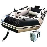 seiyishi ゴムボート エアボート フィッシングボート インフレータブルカヤック PVC製 オール付き アンカー モーターマウント リペアキット付き 収納袋付き 耐荷重300kg 重量16.6kg SY-PT-01
