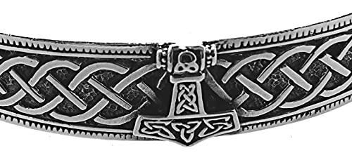 Pulsera con martillo de Thor de plata de ley 925 n.º 2