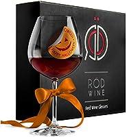 RÖD WINE Bicchieri Vino Rosso - Calici in Cristallo Infrangibili Senza Piombo - Ampia Coppa Ballon e Stelo Lungo -...