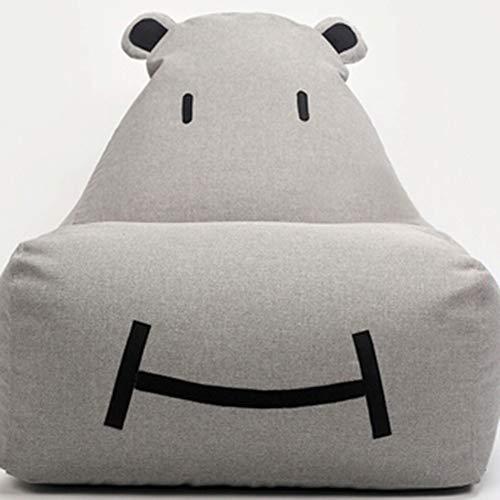 Bank GJDBBLY Enkele schattige baby kinder cartoon kunst luie bank. Tatami stoel. Zitzak klein Zoals afgebeeld-6 Lichtgrijs