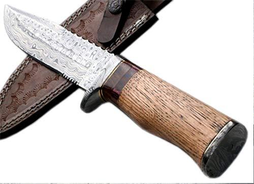 Poshland Knives REG 16 C-FR Handmade Damascus Steel 11.00 Inches Bowie Knife - Exotic Wood Handle
