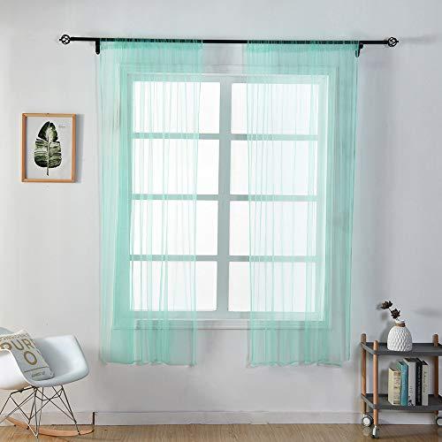 ToDIDAF Transparente Einfarbige Gardine/Vorhang, Tüll-Fenster-Behandlung, Voile-Volant, 1 Stoffbahn, für Zuhause/Wohnzimmer/Schlafzimmer Dekoration, Mehrfarben, 150 cm x 100 cm (J)