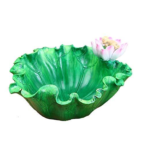 Maceta de resina creativa hoja de loto pequeña maceta de escritorio para interior de suculentas maceta verde pequeña planta en maceta decoración para dormitorio, balcón, sala de estar, cocina, oficina