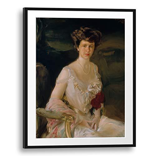 Printed Paintings Passepartout (70x100cm): Joaquín Sorolla y Bastida - Sra. Winthrop W. Aldrich (Harriet Alexander, 1888-1972)