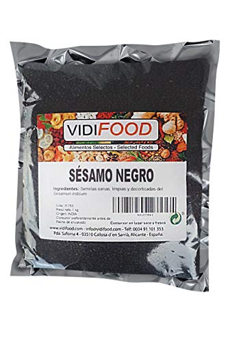 Graines de Sésame Noir - 1kg - Assaisonnement pour Plats Kéto et Végétaliens - Graines Savoureuses et Croquantes