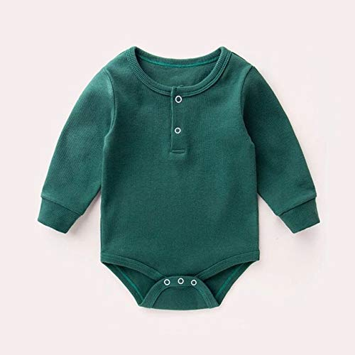 HAOJUE 3pcs/lote de ropa de bebé otoño primavera bebé niño mameluco de manga larga ropa de bebé invierno ropa de bebé enterizo bebé recién nacido (color: A, tamaño: 3M)