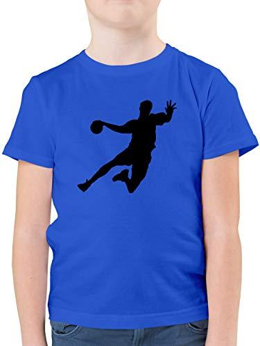 Sport Kind - Handballer - 128 (7/8 Jahre) - Royalblau - Tshirt Herren - F130K - Kinder Tshirts und T-Shirt für Jungen