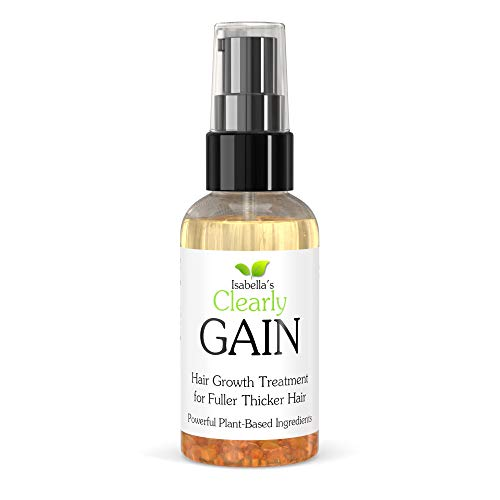Clearly GAIN, Anti Thinning Hair Growth Oil I Helps Stop Hair Loss, Grow New Hair I Essential Oil Scalp Treatment for Men, Women with Castor, Jojoba, Clary Sage, Nettle Extract