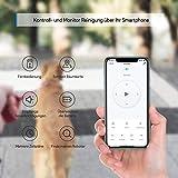 Bagotte BG800 Saugroboter WLAN Raumkarte, Starker 2200Pa Saugkraft Staubsauger Roboter mit App & Alexa Steuerung, Selbstaufladend, Intelligente Navigation für Tierhaare, Allergen, Teppiche, Hartböden - 2