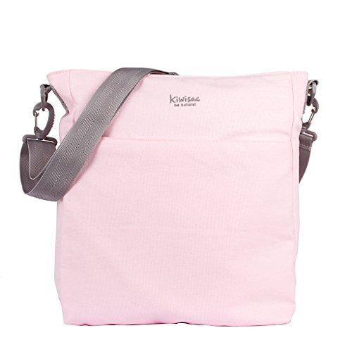 Kiwisac Be Nature Bolso Universal para Carro de Bebé con Diseño Original y Elegante en Color Rosa Bolso Organizador con Cambiador, Bandolera Ajustable y Cintas de Sujeción 32x11x36 cm