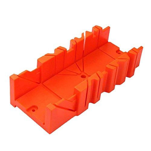 Katigan Gabinete Caja de Sierra de Inglete Multifuncional Guia de Sierra de 0/22.5/45/90 Grados Carpinteria - Naranja, 12 Pulgadas