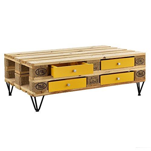 [en.casa]] Cajón Elegante y Original para europalé - se Adapta Perfectamente - DIY - Mostaza (9,5cm x 37,5cm x 44,5 cm)