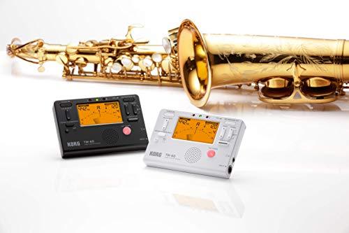 KORGチューナーメトロノーム同時に使えるTM-60WHホワイト吹奏楽ブラスバンドオーケストラ個人練習コンパクト持ち運び
