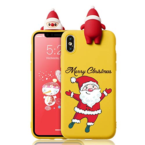 Yoedge Funda para Xiaomi Redmi Note 9 Pro, Silicona Cárcasa 3D Doll Toy Muñeca Navidad con Dibujos Antigolpes de...