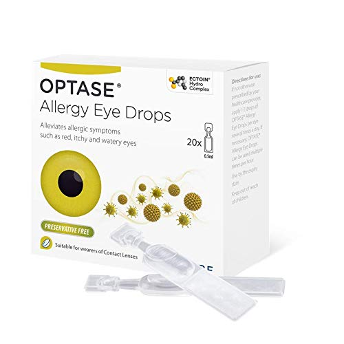 Optase Allergy Eye Drops - 20 Single Doses - Preservative Free - Unique Formulation to Help...