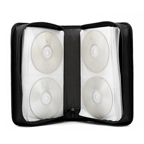 Porte-CD en nylon et pochette DVD pour 120 CD Noir
