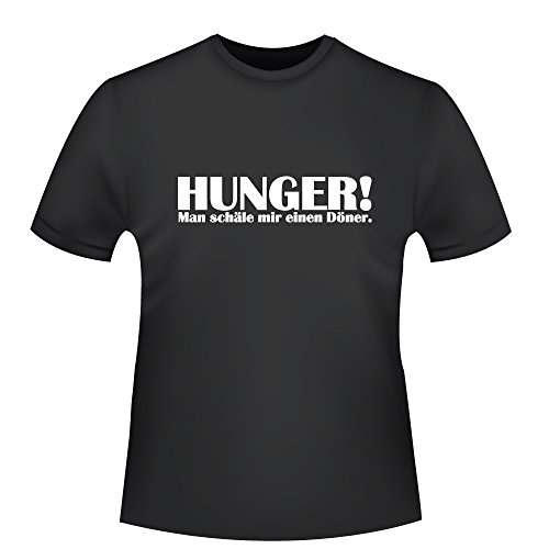 Hunger - Man schäle Mir einen Döner, Herren T-Shirt - Fairtrade -, Größe XXL, schwarz
