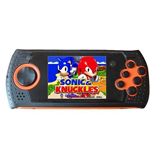 Sixcup®Game Console 3 Zoll Klassische Handheld PVP PXP FC Sega-Spielekonsole MD16 Simulator Handheld-Spielekonsole SEGA16BT für Kinder mit integrierter SEGA-Spielekonsole (Orange)