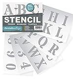 Plantillas Letras Stencil - Plantillas del Alfabeto –...