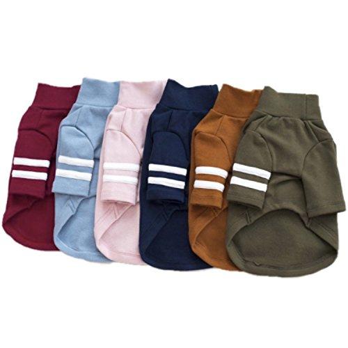 YQYQYQ Chien Vêtements Printemps Teddy VIP Bichon Petits Chiens Chien Jambes Coton Chaud Vêtements pour Animaux Domestiques, Rose, XXL