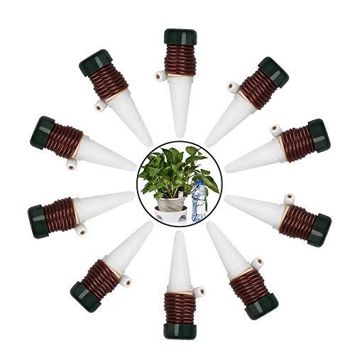 Automatische Pflanzenbewässerung Automatisches Bewässerung Werkzeug aus Keramik Selbst Tropfende Bewässerung der Pflanze Bewässerungsgerät Gartenarbeit 10 PCS für Außen- und Zimmerpflanzen