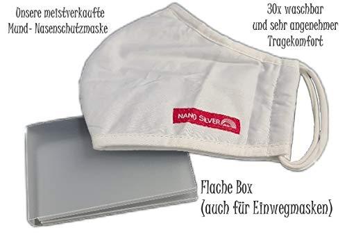 Stefan Hegelein elastischer waschbarer mundschutz Nano Silber + Maskenbox für Hosentasche oder Handtasche