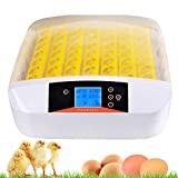OppsDecor Egg Incubator, 56 Eggs Digital Incubator with Fully Automatic Egg Turning and Humidity Control 90W Clear Hatching for Chicken Duck Eggs (White)