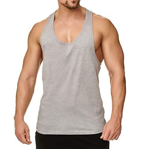 Happy Clothing Herren Tank Top Sport Fair-Trade, 100{41d26423069c9379cd48be86d83233310fc66cb2ccd265dbd27de749ad13686c} Baumwolle, Größe:S, Farbe:Grau meliert