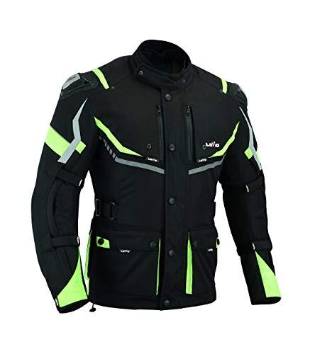 LOVO Chaqueta tricapa de toda estación de moto para hombre (3XL)