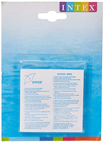 Intex Pool Reparaturflicken - 6 Stück - Transparent - 7 x 7 cm