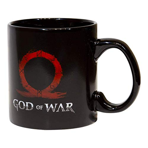 N\A God of War Kratos e Hijo Taza de café y té de cerámica | 20 onzas