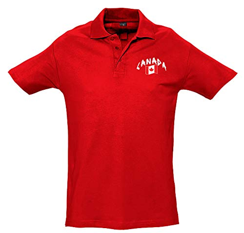 Supportershop Polo Rugby Canada Rouge XXL Polohemd, rot
