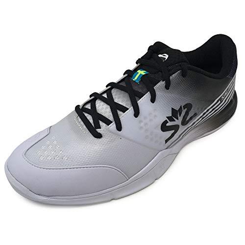 Salming Viper 5 Indoor Handballschuhe Hallenschuhe weiß/schwarz 1230071-0701, Schuhgröße:45 1/3 EU