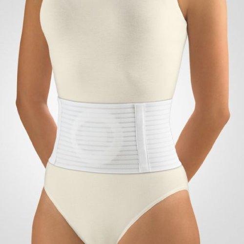 Bort Narbenbruch-Bandage, Bauchgurt / Höhe 21 cm - weiß