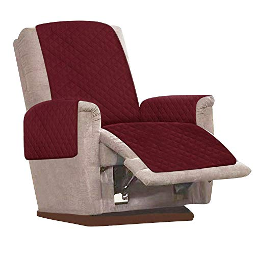 Relax love Recliner Chair Cover Mat Slip Resistant Reversible Quilted...