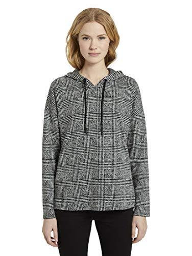 TOM TAILOR dames gebreid & sweatshirts geruite hoodie