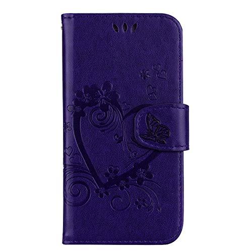 Tosim Huawei [Mate 20 Pro] Hülle Klappbar Leder, Brieftasche Handyhülle Klapphülle mit Kartenhalter Stossfest Lederhülle für Huawei Mate 20Pro - TORXZ020459 Violett