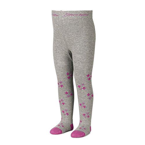 Sterntaler - meisjes panty met glitterster, grijs - 8701703g