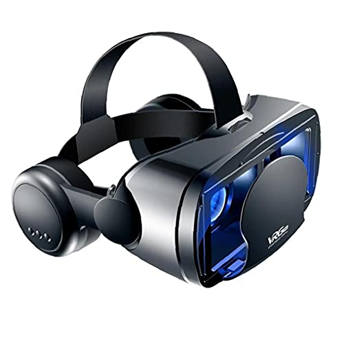 Tuimiyisou VR 3D Auriculares para Juegos de Realidad Virtual vidrios de los vidrios de la película 3D con el Auricular del teléfono Compatible con los teléfonos Android 5-7 Pulgadas