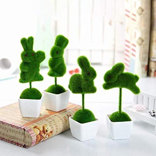 Bonsai kunstmatige plant in pot, groen, kunststof, bonsai, schattig, decoratie, voor bruiloft, bonsai, 4 stuks