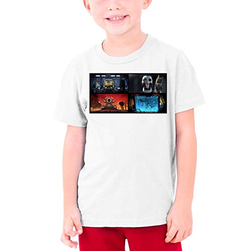 LWJKI Design Love,Death&Robots Wallpaper Funny Tshirts Short Sleeve for Teenagers White XL
