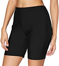 ATTRACO Ladies Swim Shorts Swim Bike Shorts High Rise Swimwear Shorts Black XL