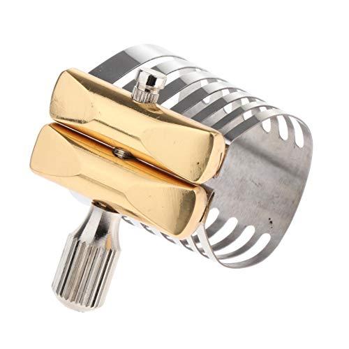 T TOOYFUL Alto Sax Tenore Sassofono Legatura Argento Placcato In Metallo Resistente Robusto Sassofono Accessori - Tenore