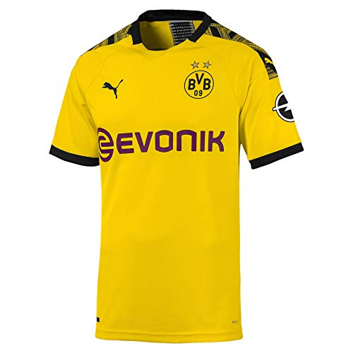 PUMA BVB Herren Authentic Heimtrikot Cyber Yellow-Puma Black XS