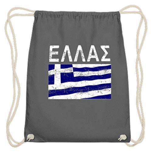 Griechenland - Fahne, Flagge, Griechisch, Grieche, Griechin, Hellas, Hellenen, Athen - Baumwoll Gymsac