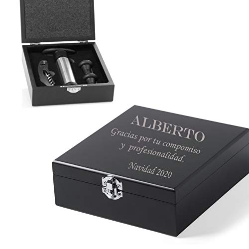 Set de vinos Accesorios para el Vino en Caja Personalizada con el...