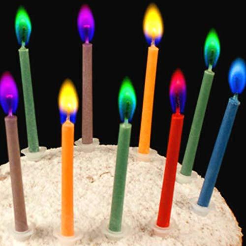 ADSIKOOJF 12 stks/vlam Verjaardag Kaars Home Decoratie Kleurrijke Kleur Vlam Kaarsen Voor Bruiloft Party