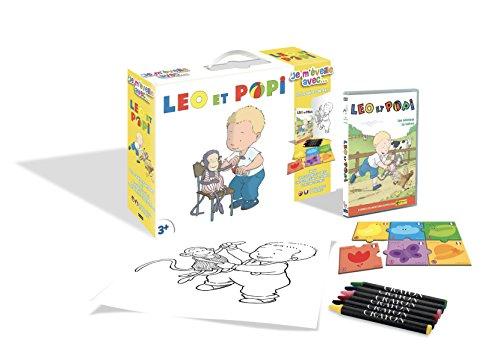 Léo et POPI-Je m'éveille avec. (DVD+Puzzle+6 Crayons Pastels + Poster)