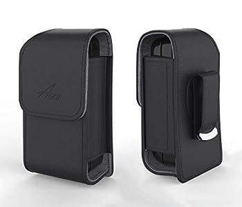 Agoz Alcatel Flip Phone Case For Alcatel SmartFlip GO Flip 3,GO FLIP,Go Flip V,Alcatel MyFlip ATT Cingular Flip 2 QuickFlip Alcatel One Touch Retro Fling,Speakeasy Leather Belt Clip Holster Pouch