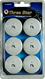Martin Kilpatrick 3 Star Table Tennis Balls - 6 Pack - 40mm Ping Pong Balls - White - Poly Ping Pong Balls - Excellent Quality - Great For Schools, Homes, And Training